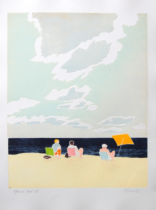 Print of Afternoon Beach