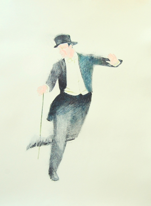 Print of Fred Tapdances With Cane I